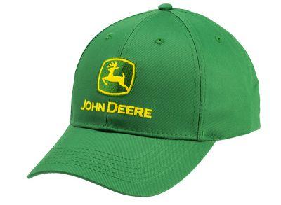 Grön John Deere-keps med varumärke