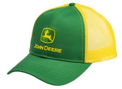 Gorra de camionero verde y amarilla