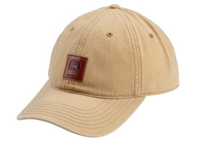 Cappellino John Deere con toppa in pelle