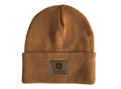 Brązowa czapka beanie John Deere
