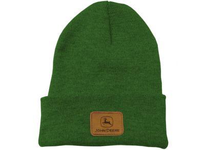 Zielona czapka beanie John Deere
