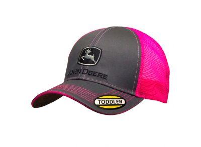Cappellino John Deere per bambini con parte posteriore in rete