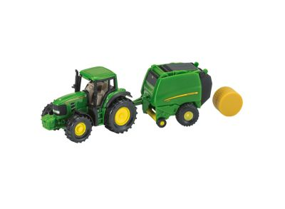 John Deere Tractor with Round Baler